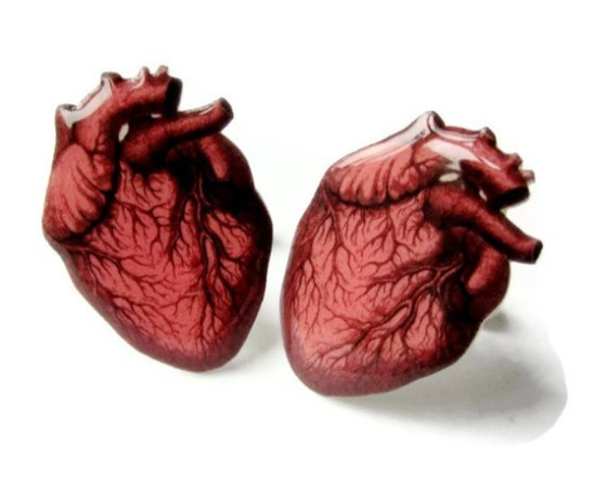 'Anatomical Heart Cufflinks', $20 from The Spangled Maker